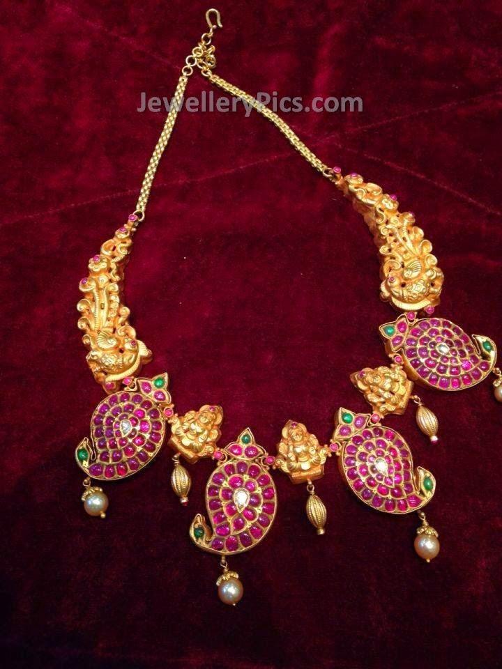rubies mango mala short necklace