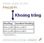 Kẻ bảng và khắc phục lỗi khi chèn bản cho Blog