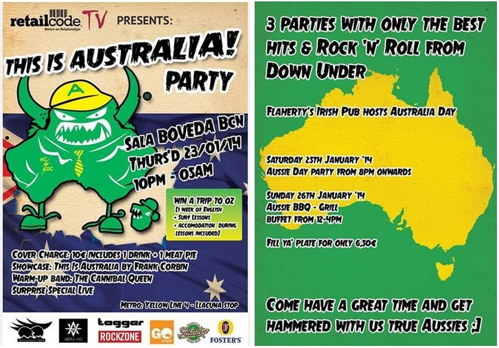 Aus Day Parties!!!
