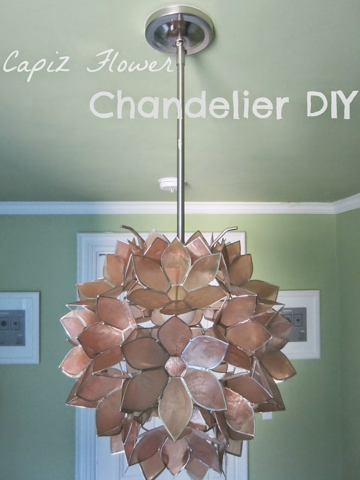 Capiz flower chandelier diy aloadofball Images