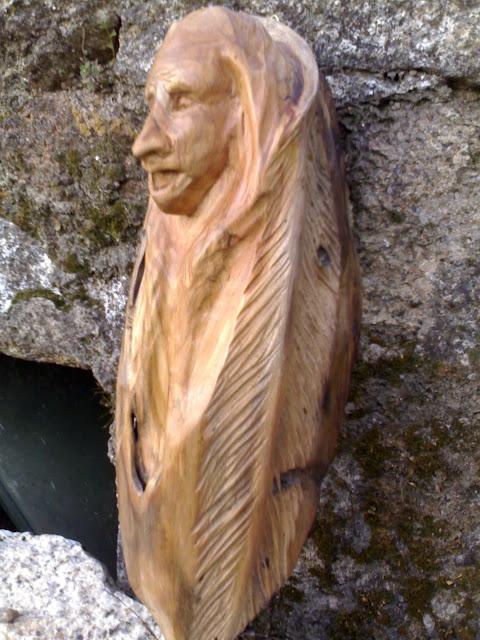 Escultura Indio americano