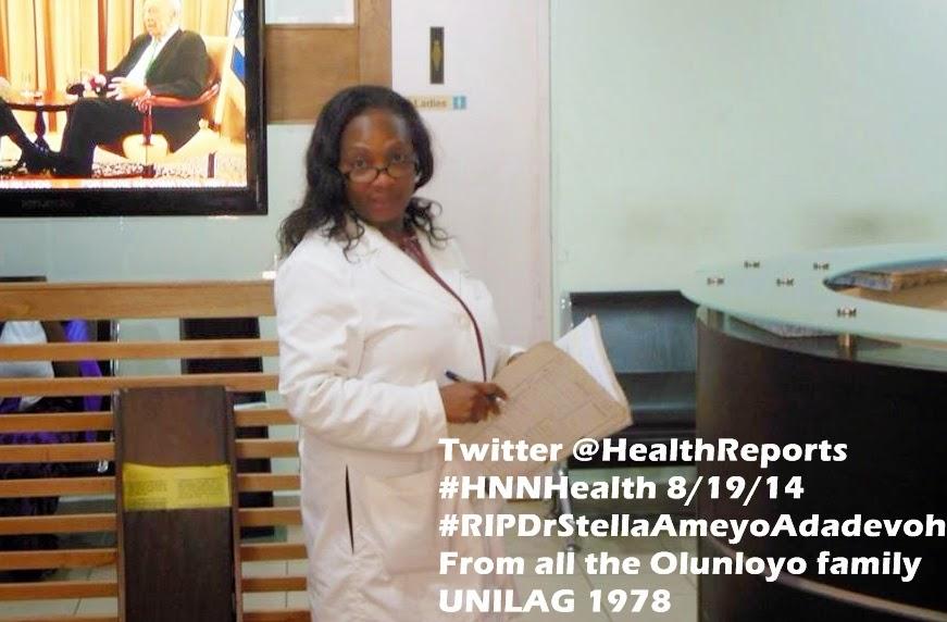 #HNNHealth TRIBUTE to Dr Stella Ameyo Adadevoh