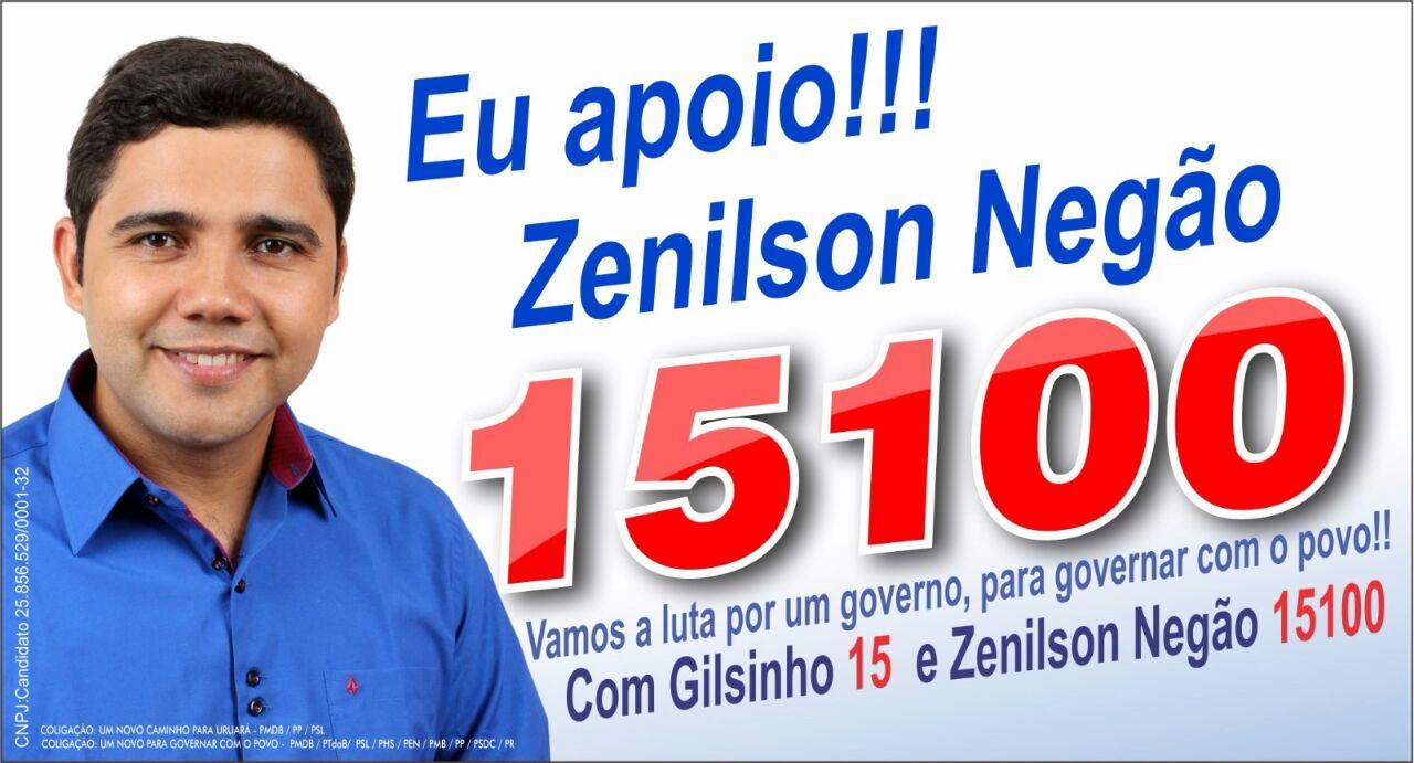 Para vereador Vote 15100 Zenilson Negão