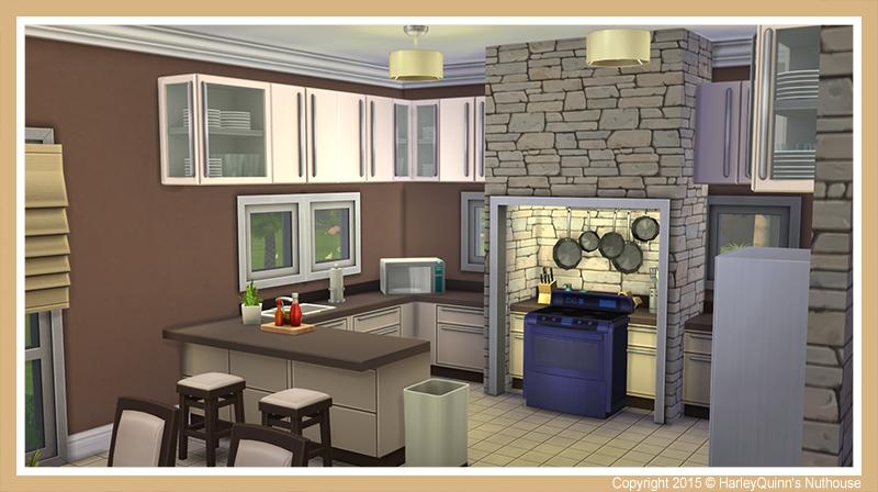 Harleyquinn 39 s nuthouse piedra azul for Sims 2 kitchen ideas