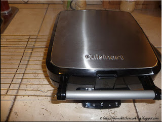 the new Cuisinart Belgian waffle maker in action