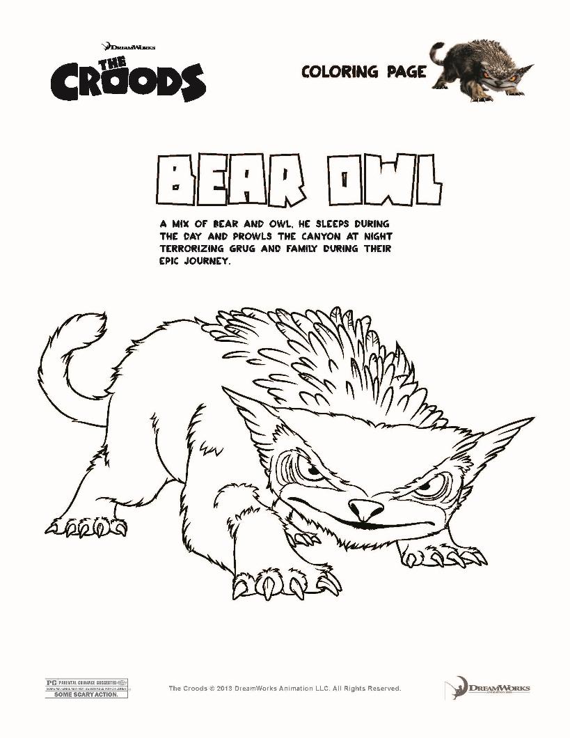 laminas para colorear coloring pages los croods para dibujar y