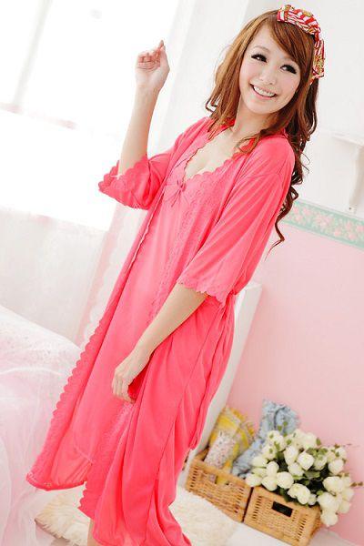 gambar Kimono dan lingerie SL1208 Coral