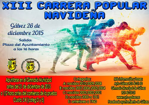 XIII Carrera Popular Navideña de Gálvez