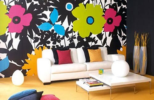 small living room flower wall decor