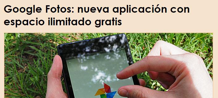 Google Fotos, nueva aplicación con espacio ilimitado gratis