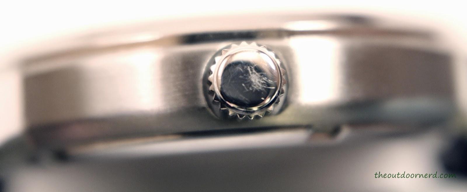 Casio Men's EF305-1AV Edifice Scratches On Crown