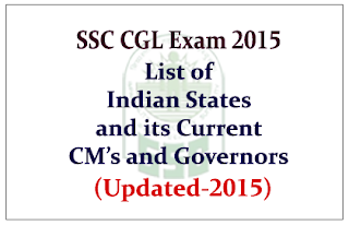 List of Indian States and its Present Chief Ministers and Governors 2015 (Updated)