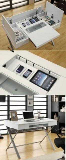Contoh Gambar Meja Kerja Aneka Gadget Modern