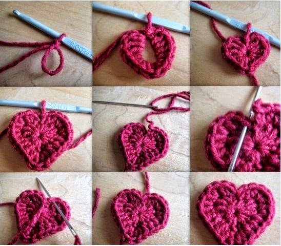 Paso a paso de corazon con ganchillo para San Valentin