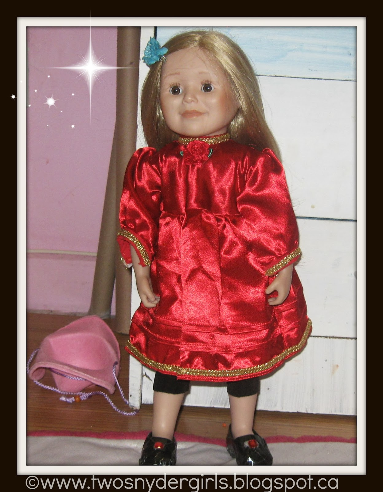 Maplelea 18 inch doll in red dress