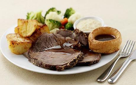 Roast beef served