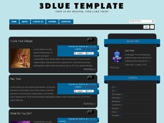 3Dlue V1 Blogger Template