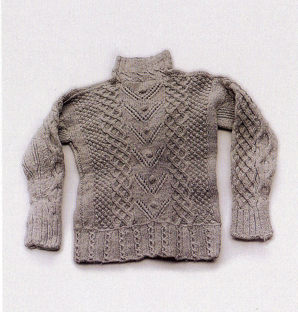 Knitting Patterns Irish Fisherman Sweaters : The Perfect Thing: irish fisherman knit sweater