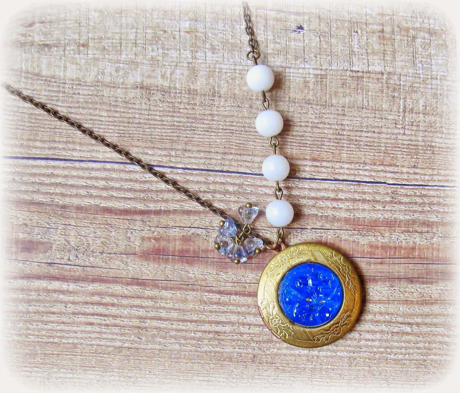 image mr darcy locket necklace pride and prejudice jane austen brass blue white vintage two cheeky monkeys