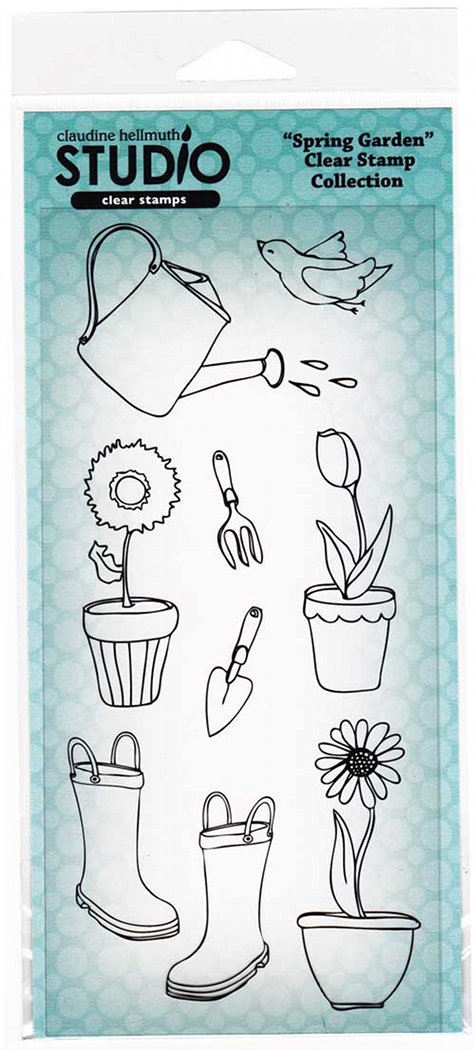 Spring Garden Clear Stamp Set from Claudine Hellmuth - DIY Project Ideas