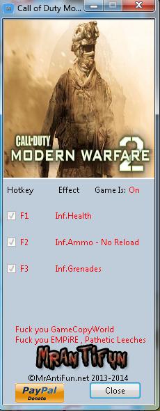 скачать трейнер для Modern Warfare 2 - фото 7