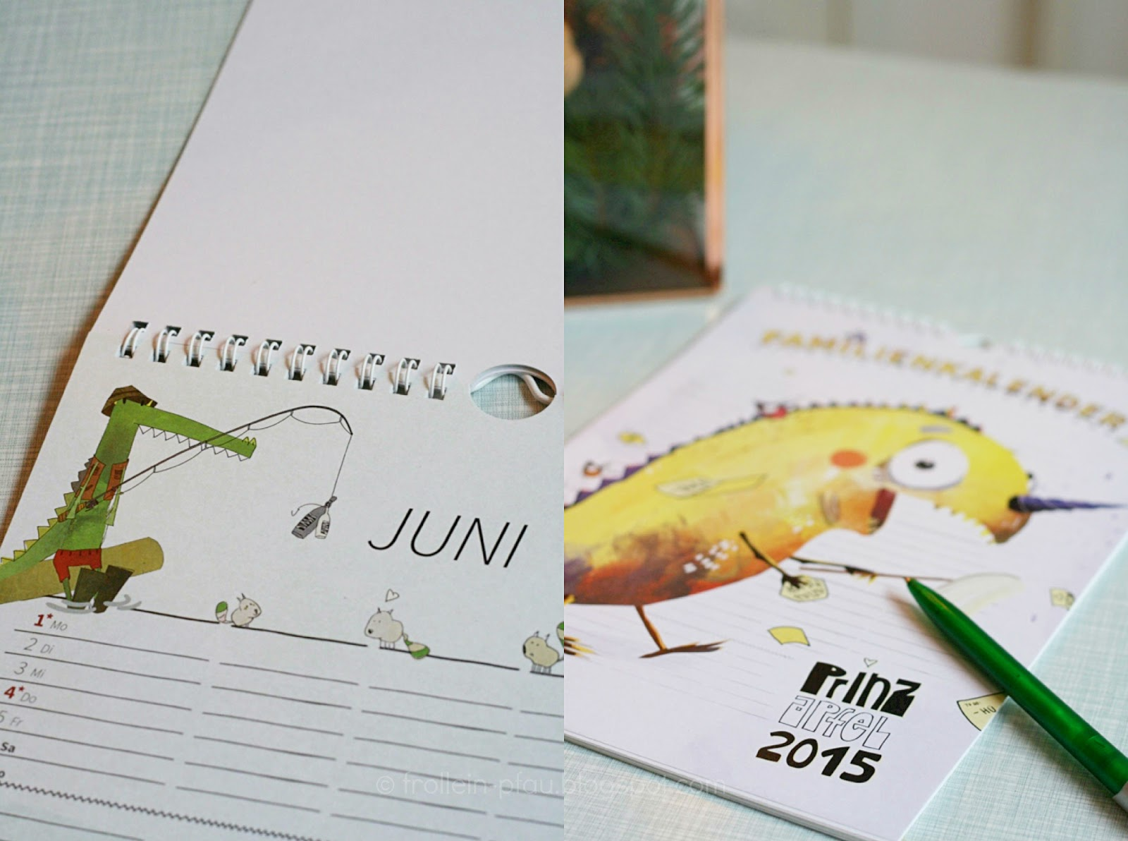 Prinz Apfel, Kalender, Familienkalender, Jahreskalender, 2015, illustriert, Illustrationen, Drache