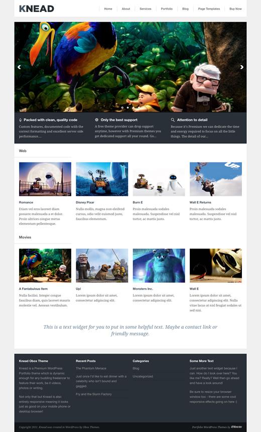 Knead responsive portfolio theme.