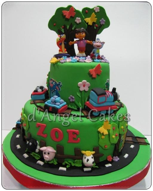Dangel Cakes Dora The Explorer Cake For Zoe