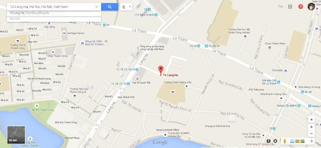 Vị trí chung cư Oriental Plaza