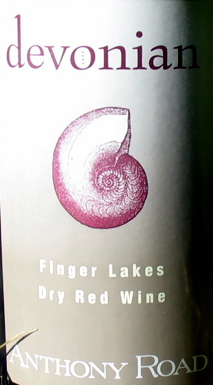 Label of Anthony Road Wine Company's Devonian Red