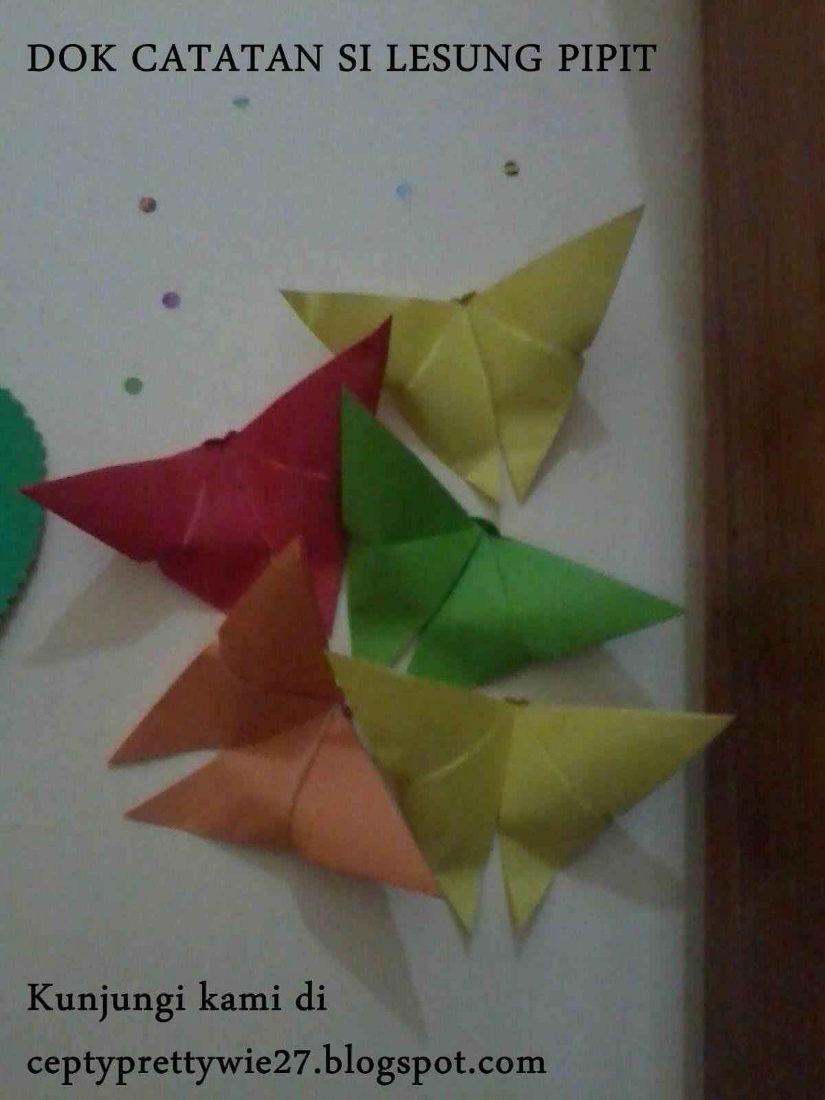 tutorial cara membuat origami kupukupu dengan mudah