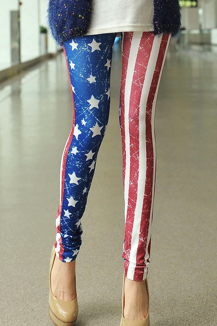 Red, White and Blue Leggings - $25  (No Size)  #LG2399
