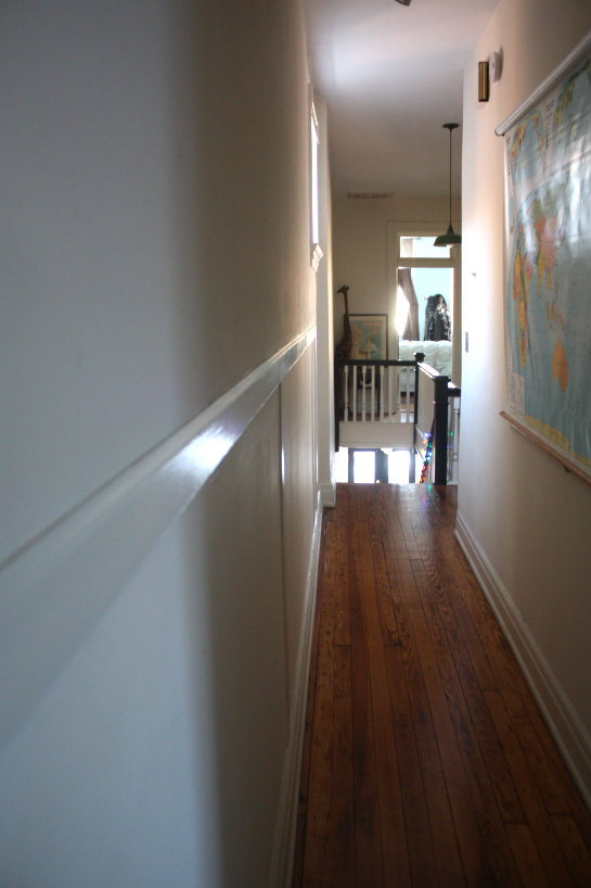 hallway finally. Finally, The View From Front Of House, Looking Back Into Narrow Upstairs Hallway: Hallway Finally