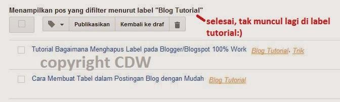 Tutorial Bagaimana Menghapus Label pada Blogger/Blogspot 100% Work