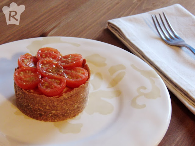 Cheesecake con cherrys a la mostaza