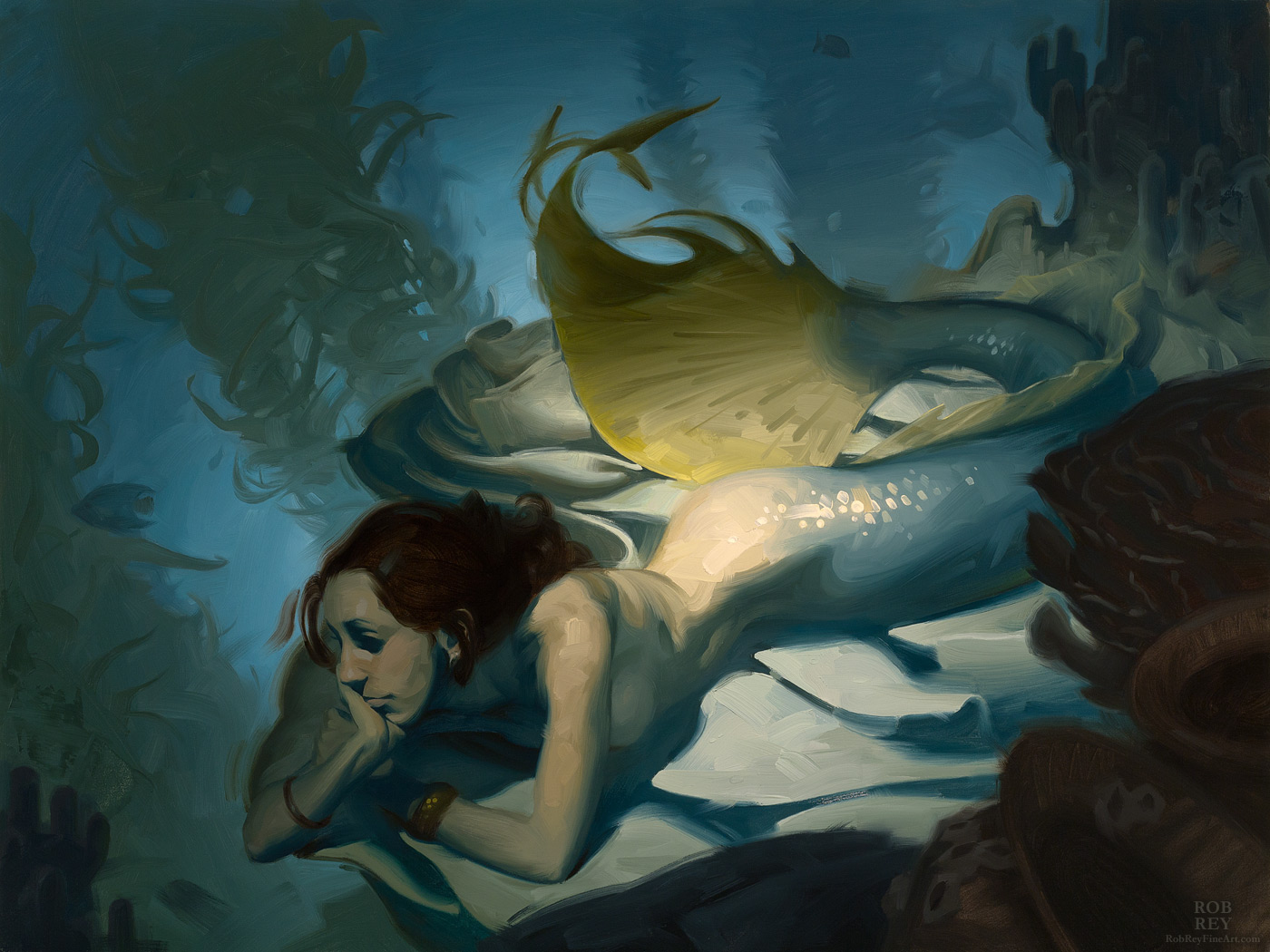 Untitled Mermaid by Rob Rey - robreyfineart.com