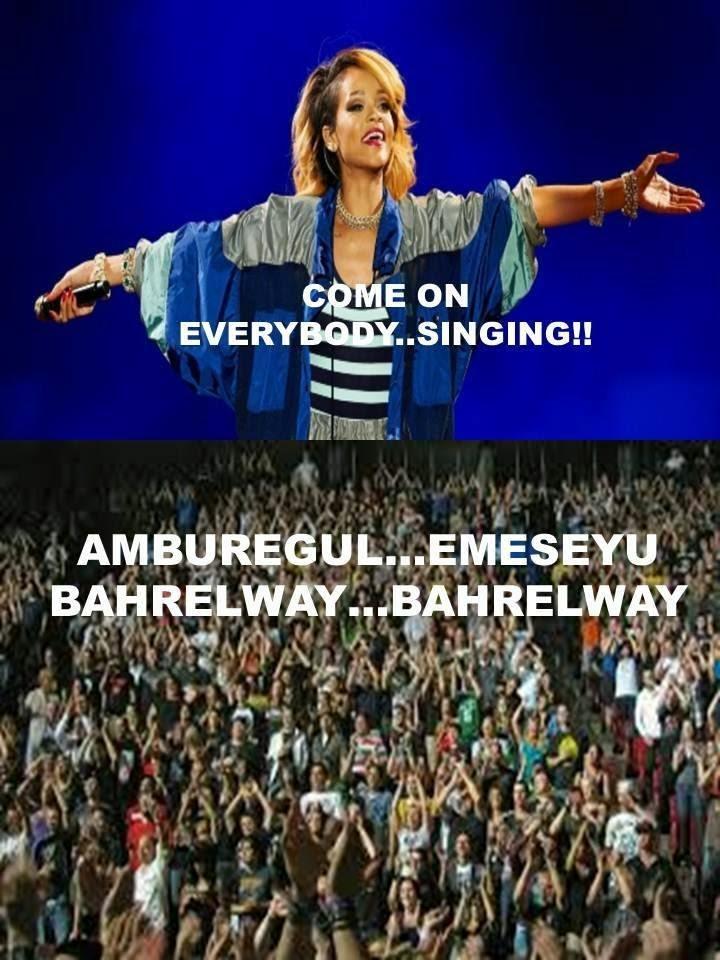 Penonton Rihanna juga nyanyi lagu bahrelway