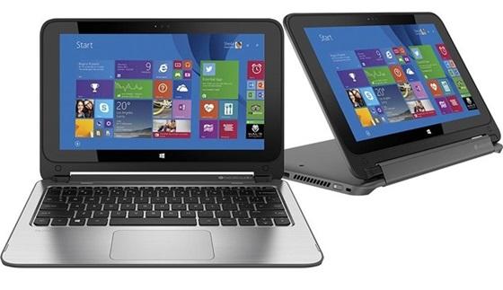 O notebook 2 em 1 da HP tem bateria de duas células e está disponível na cor prata