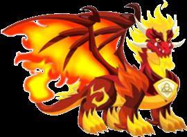 imagen del dragon fuego puro