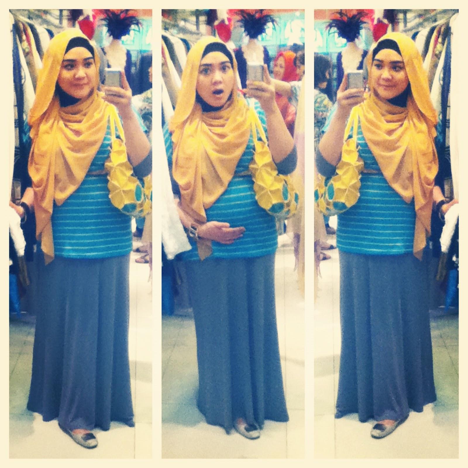 Yellow and Turquoise - Tutorial Hijab Zaskia