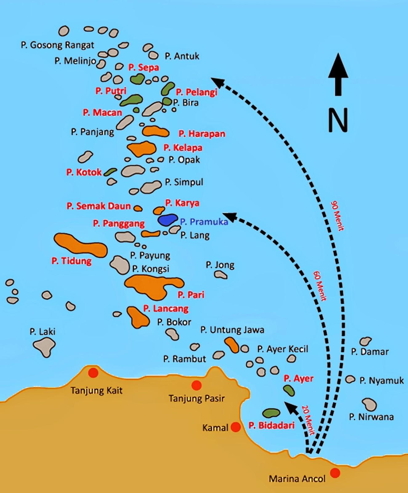 Thousand Island Map Indonesia