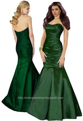 бална рокля в маслено зелено