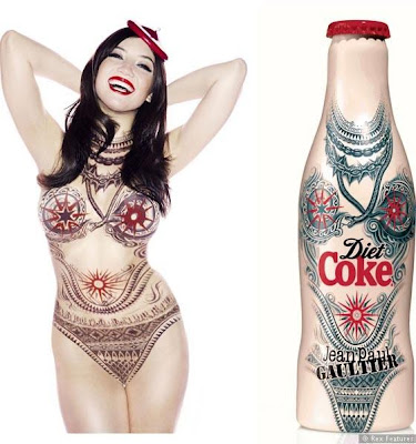 Jean Paul Gaultier Daisy Lowe Diet coke bottle - iloveankara.blogspot.co.uk