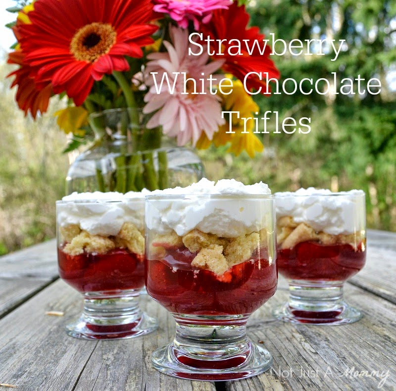 Strawberry White Chocolate Trifles with Lucky Leaf
