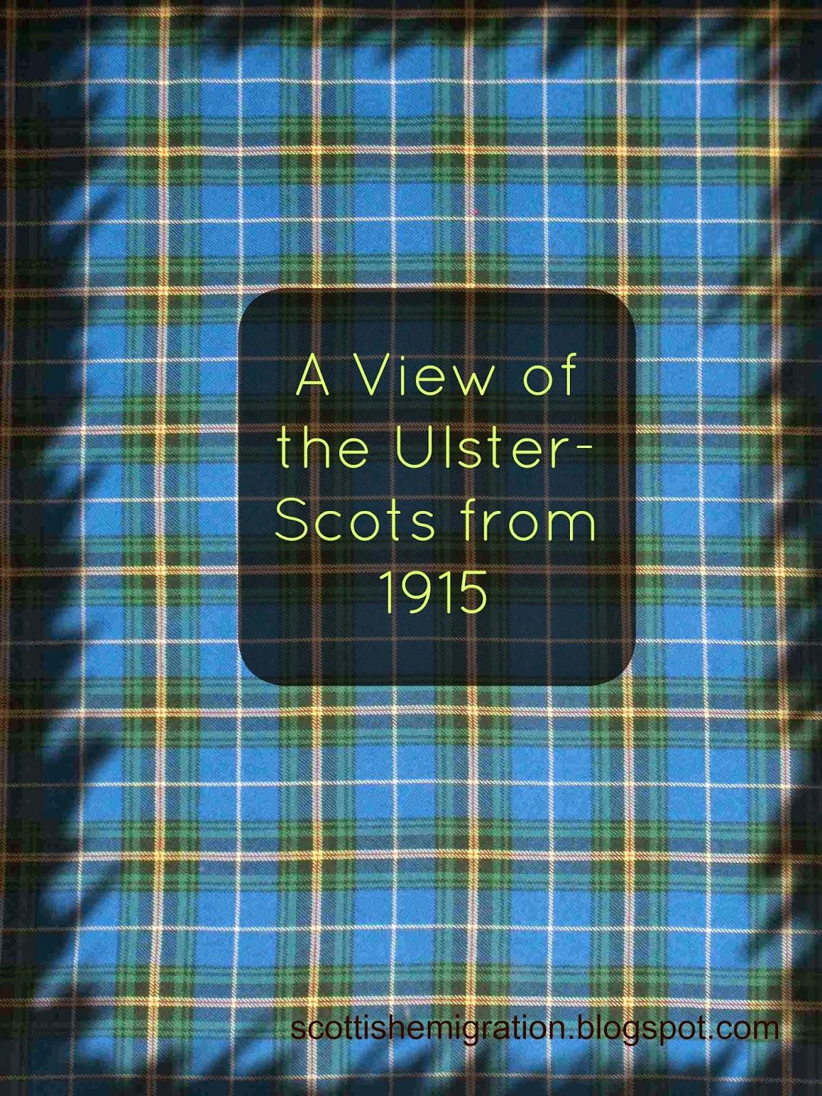 ulster-scots, scotch-irish, immigration, emigration, scotland, ireland
