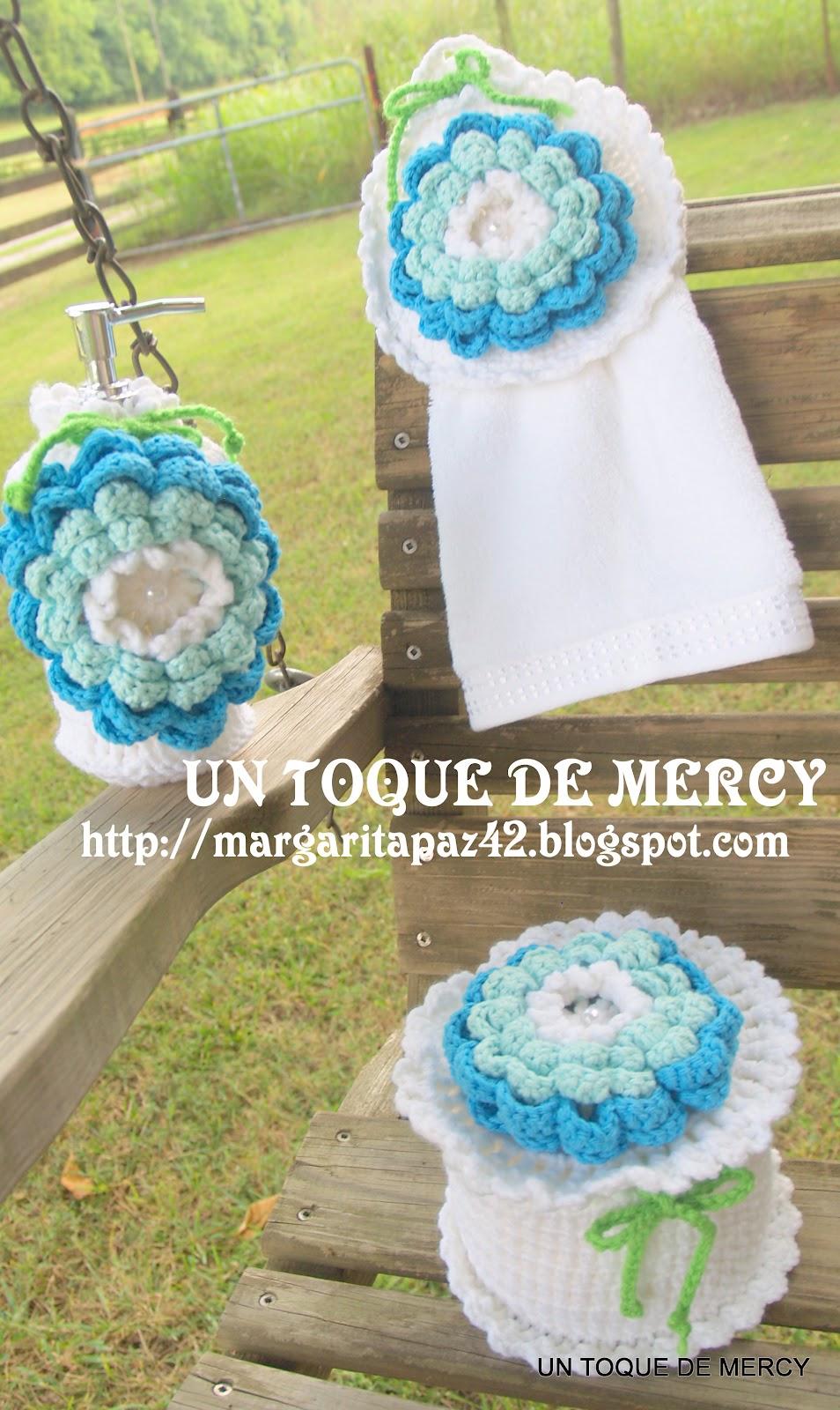 Set De Baño Drapeado:UN TOQUE DE MERCY: SET PARA BANO DE CROCHET – set para bano de crochet