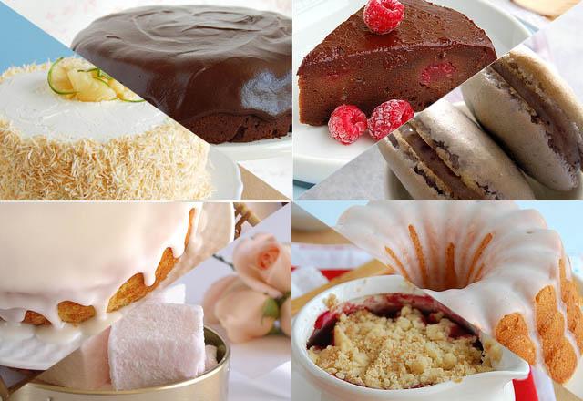 COMIDINHA BOA-technicolor kitchen-comida de cinema-bolo de chocolate-crumble de cereja-bolo de piña colada-bolo de coco