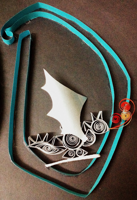 how to make paper quilling nameplate