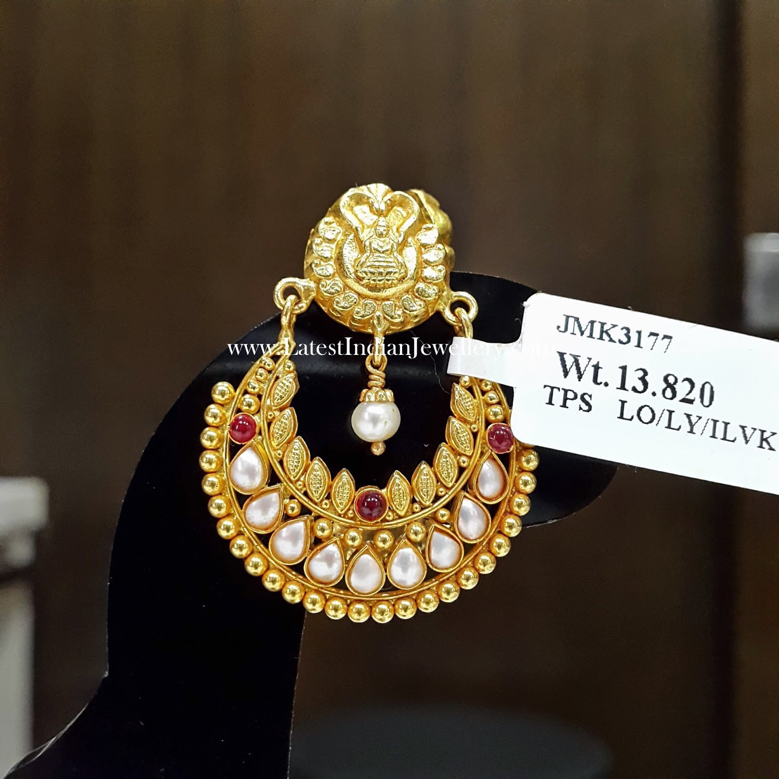 antique ramleela gold earrings