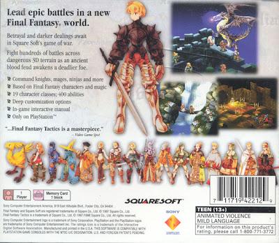 Final Fantasy Tactics Cover Back